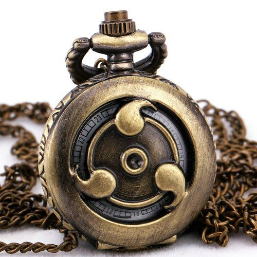 Тд унисекс мужские женщин старинные бронзовая медь кварцевые карманные часы длинный свитер цепи ожерелье + подарочной коробке