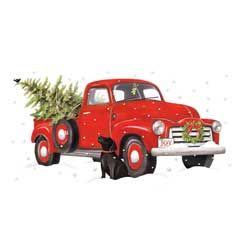 Red Truck Holiday Towel Set of 2