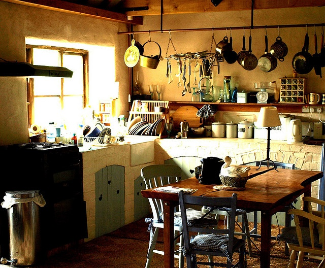 The real life Weasley kitchen! #kitchen #cottage