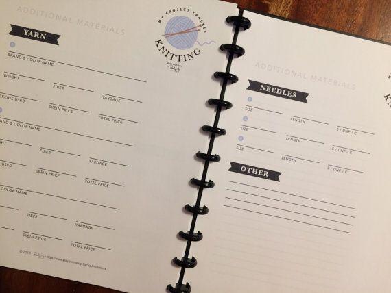 Knitting Project Tracker Printable Worksheet by BeckyJInvitations