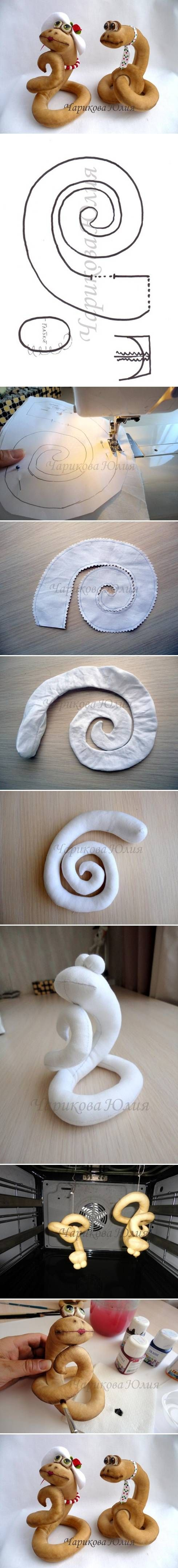DIY Sew Fabric Snake