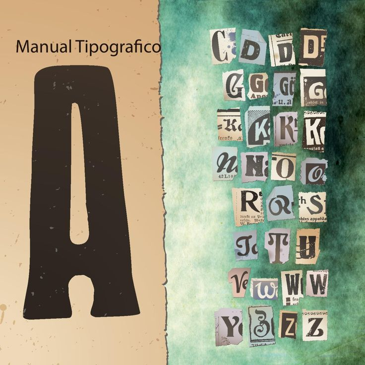 Manual Tipografico  Manual para comprender y desarrollar una tipografia.
