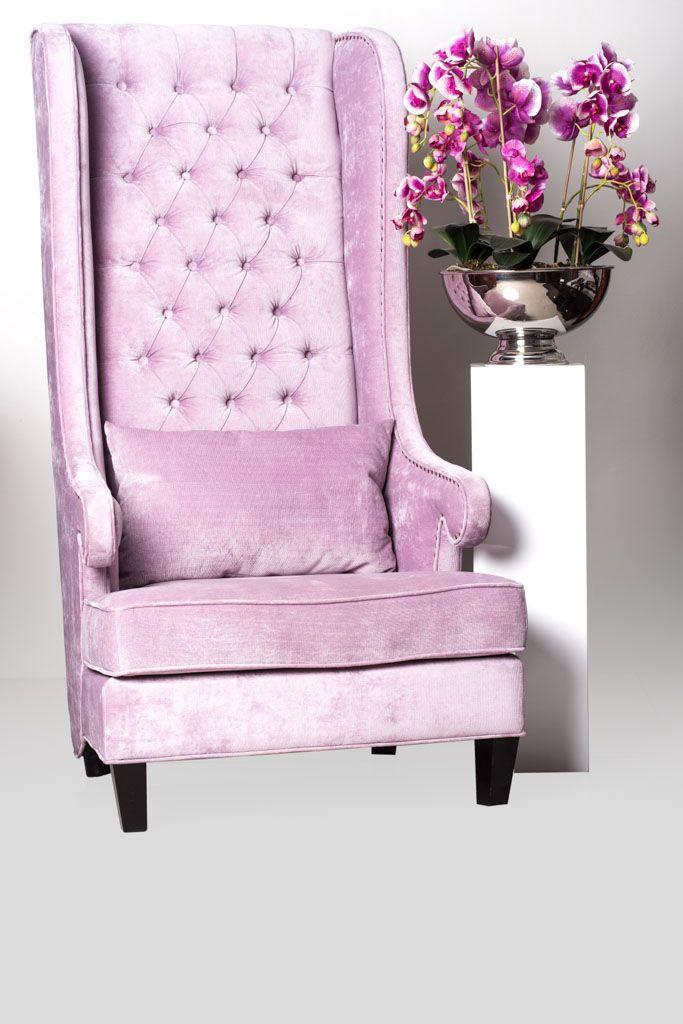 UFO FURNITURE Purple high chair R6 999.99, Colunm white (medium)R1 799.99, Phalenophsis purple flowers R2 999.99. Call them on 014 537 2761.
