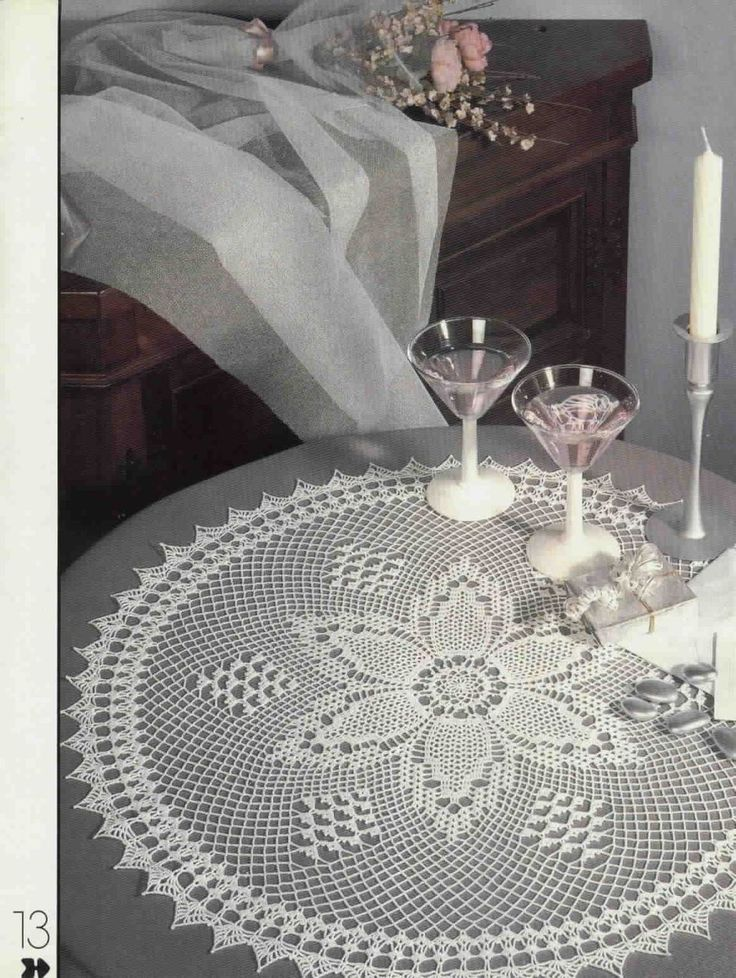 Free Shipping Round White Color Lace Crocheted Doily Great Daisy Magic Crochet Magazine Pattern  $53