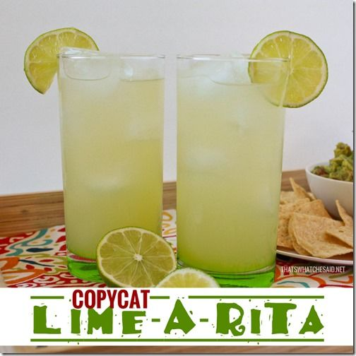 Cinco de Mayo Copycat Lime-a-rita at thatswhatchesaid.net #recipes