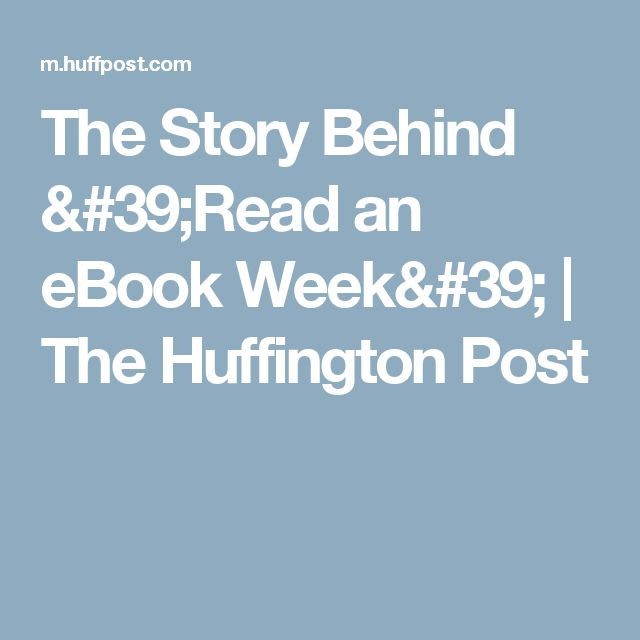 12 best my silly smut ebooks images on pinterest free stuff the story behind read an ebook week the huffington post fandeluxe Document