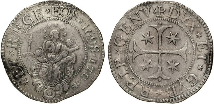 NumisBids: Numismatica Varesi s.a.s. Auction 65, Lot 380 : GENOVA - DOGI BIENNALI, III fase (1637-1797) Scudo 1698, sigle ITC....