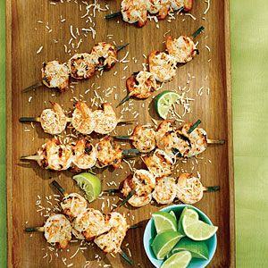 Coconut Lime Shrimp Skewers | MyRecipes.com
