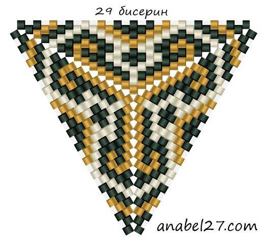 Схемы треугольников - мозаичное плетение 6 | - Схемы для бисероплетения / Free bead patterns -