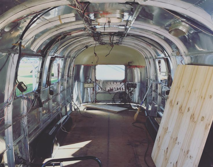 Airstream Gutted