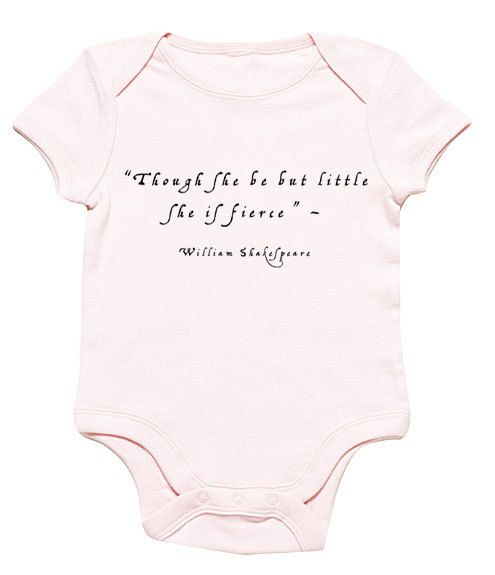 Funny Baby Onesie Shakespeare style baby girl by FunnyBabyOnesie, $14.99
