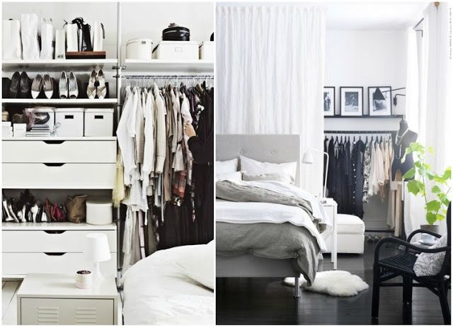 behind the curtain closets: Dreams Bedrooms, Closet Wardrobes, Closet Spaces, Curtains Closet, Organizations Ideas, Open Closet, Closet Dressingroom Vans, Closet Inspiration, Bedrooms Ideas