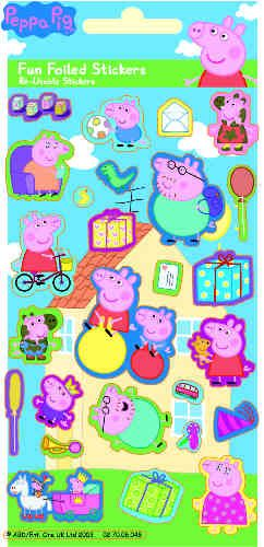 Peppa Pig Stickers -  Foiled