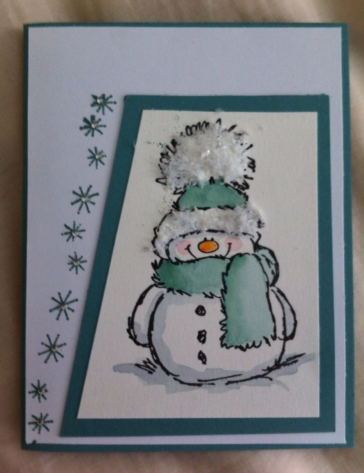 Penny Black stamp snowy, totally stolen idea from pinterest