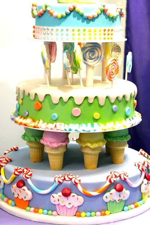 Cute: Regina Kind, Candy Cake, Candy Land Cakes, Fun Cakes, Candyland Cake, Birthday Party Cake, Candyland Party, Birthday Cakes, Birthday Ideas
