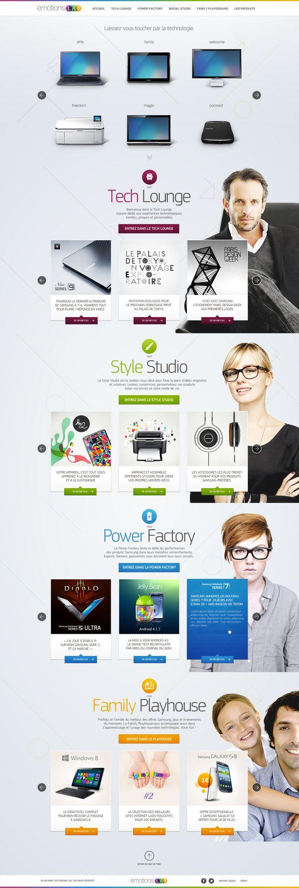 Emotions Lab by Samsung by yul , via Behance