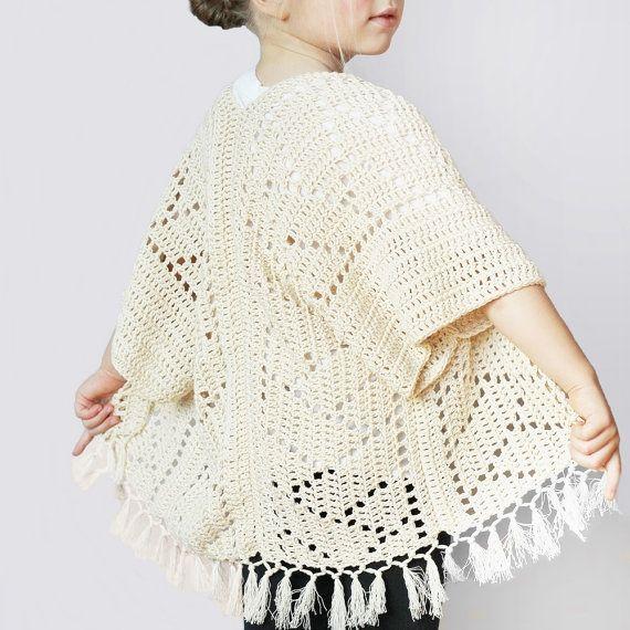 Crochet Pattern Kenzie Kimono by Lakeside Loops by LakesideLoops