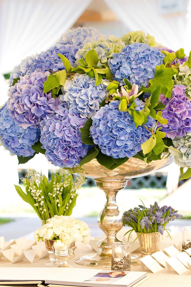 Hydrangeas and gold ~ Photography: Melani Lust Photography // Floral + Event Design: KDJ Botanica
