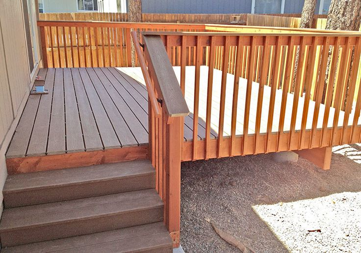 Best Trex Deck With Redwood Handrails In Flagstaff Arizona By 400 x 300