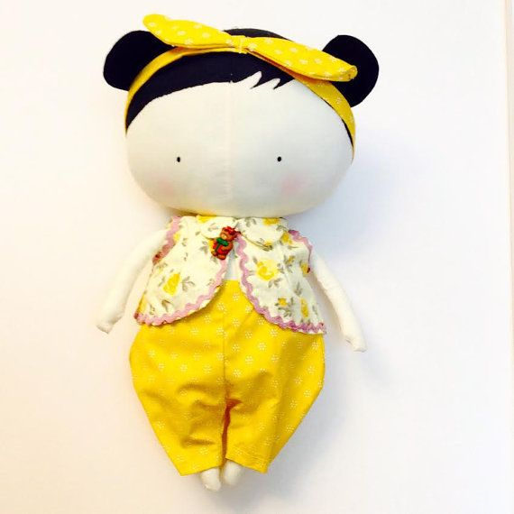 Tilda Sweetheart Doll : Happy New Year by HandmadeRagLove on Etsy