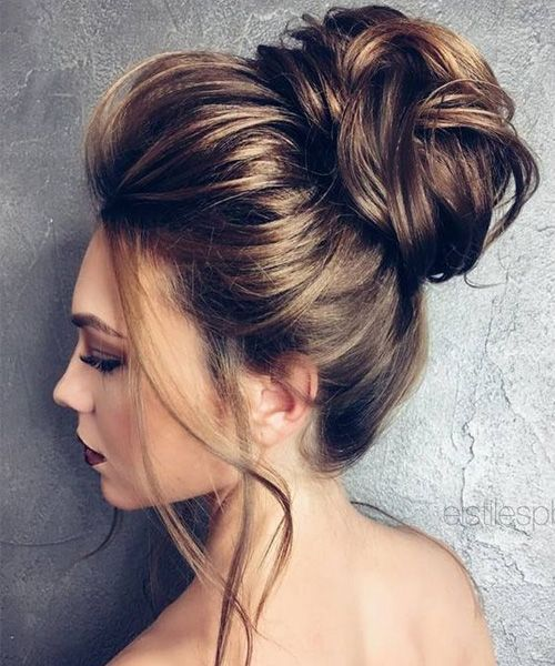 Wedding Party Style For The Long Hair: Elegant Wedding Updo Hairstyles 2017 For Women