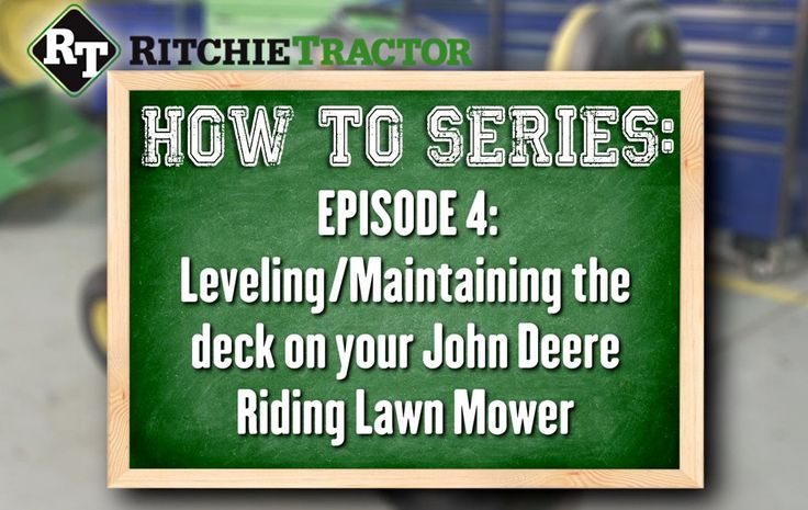 7 best john deere mower images on pinterest beauty products book how to levelmaintain the deck on your john deere riding lawn mower fandeluxe Image collections