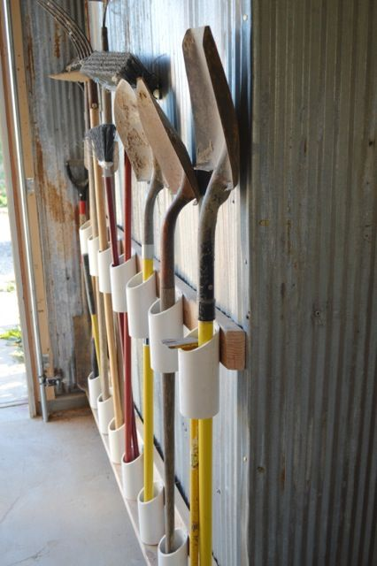 -for the rest of the yard tools that don't already have hooks.