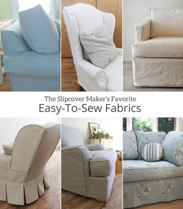 Making Your Own Slipcover Try These Easy To Sew Fabrics Furniture Slipcovers Slipcovers For Chairs Patchwork Furniture