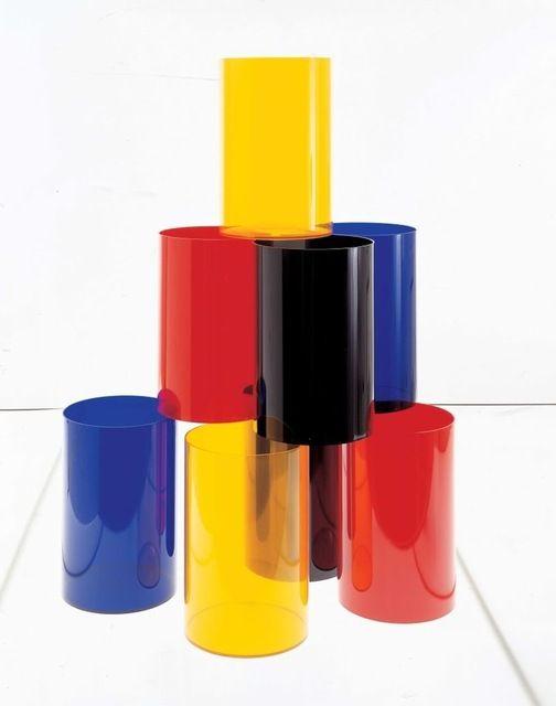 Wastebasket, Transparent Blue modern-waste-baskets