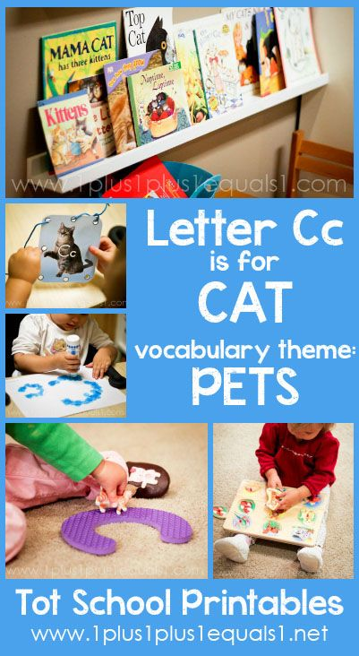 Tot School Printables Letter C is for Cat ~ a free program for toddlers from @{1plus1plus1} Carisa #totschool