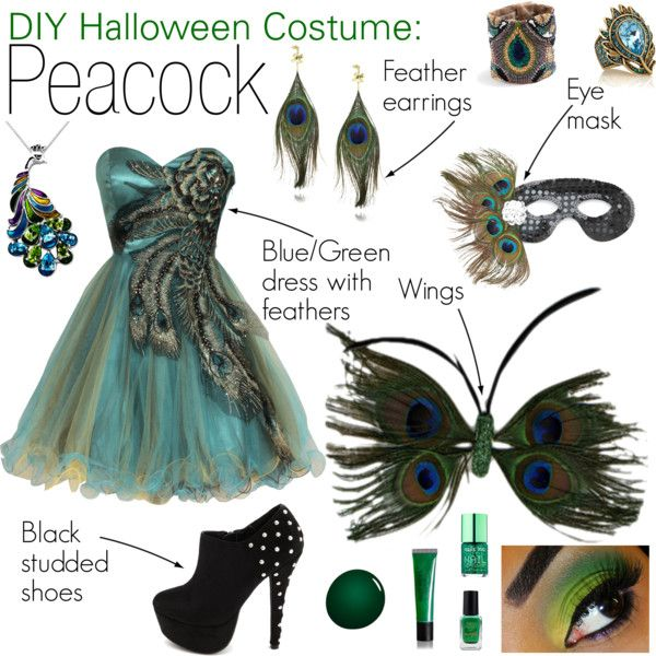 """DIY Halloween Costume: Peacock"" by caseyisjustcasey on Polyvore"