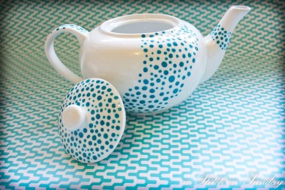 DIY painted teapots