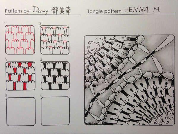 Henna M tangle pattern  by Damy