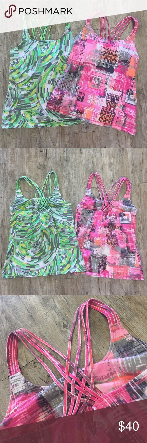 CALVIN KLEIN Workout Tops, Pre-Made Bundle Built in bra with lift support, comfortable workout tops. Gently worn but lots of life left. Calvin Klein Tops