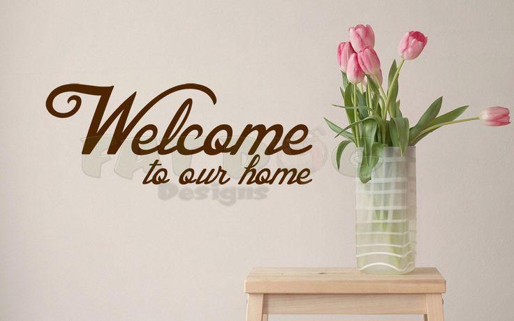 Welcome To Our Home Welcome Door Decal Front Door Decal Welcome