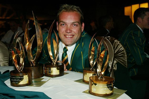 April 22, 2004: Jacques Kallis during the South African cricket awards. (Gallo Images)