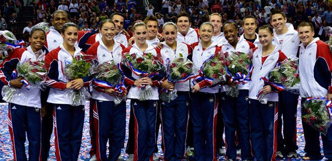 The Women and Men US 2012 Olympic Gymnastic Team #Team USA