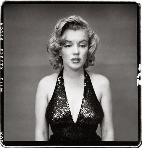 Richard Avedon described this photo as seeing the real vulnerable Marilyn Monroe. He said he caught her stairing into space just being herself & she didn't decline when he started shooting.