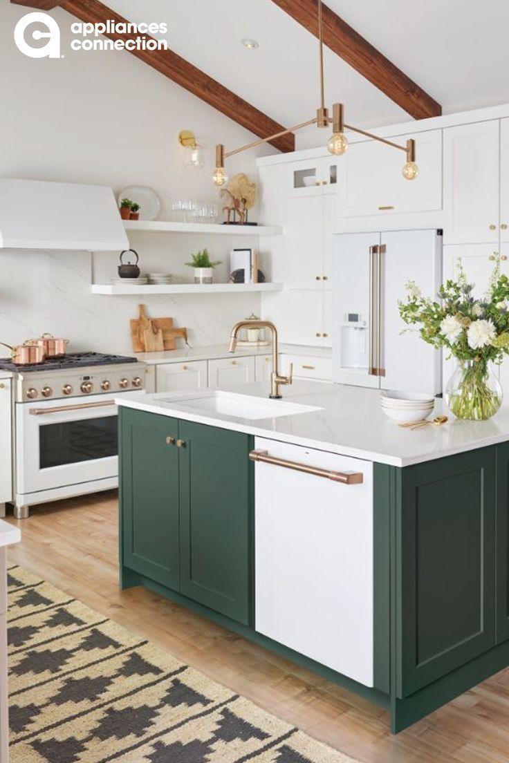 Wenn Sie Zu Hause Sind Bieten Ihnen Ge Appliances Und Amazon Alexa Eine Kuche Deko Kitchen Island With Sink Dream Kitchen Island White Kitchen
