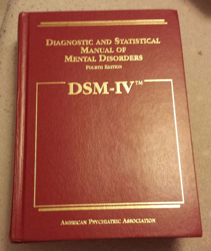 mental disorder dsm iv Dsm-iii, dsm-iii-r and dsm-iv dsm-iii, which was published in 1980 after six years of preparatory work, represented a major break with the first two editions of dsm dsm-iii introduced the present descriptive symptom-based or phenomenological approach to mental disorders, added lists of explicit diagnostic criteria, removed references to the.