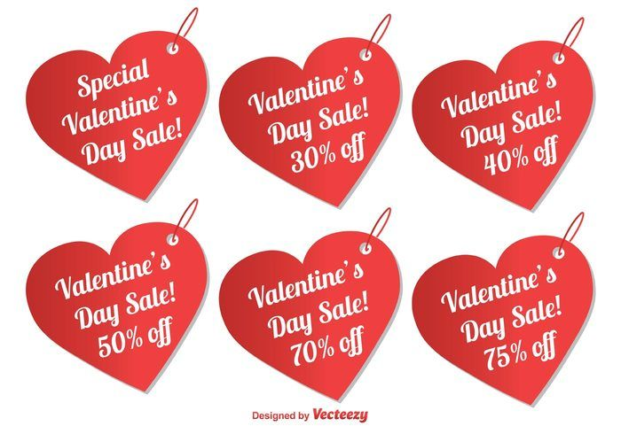 Free vector Valentine's Day Sale Tags #30367