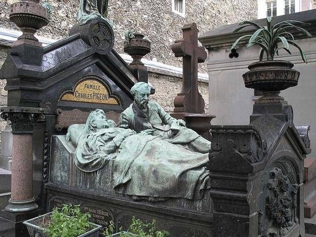 7.) From a graveyard in Paris, France. It's a hauntingly beautiful gravestone.