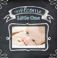 Chalkboard Baby Boy create your own baby book online and have it shipped to you