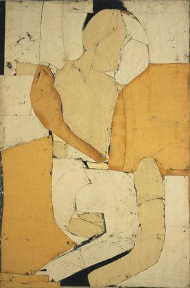Conrad Marca-Relli. Sleeping Figure. 1953-54