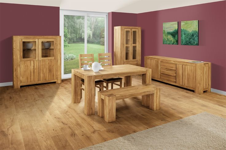 If you like simple and elegant pieces of furniture in a rustic style then Clemence Richard Massive is the line to choose. This selection of living and dining room furniture is crafted from solid oak without veneers. #SolidOak