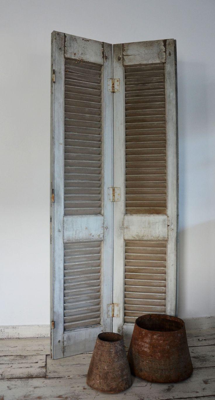 Oud louvre luik! de mooiste oude luiken, vintage shutters, antieke ...