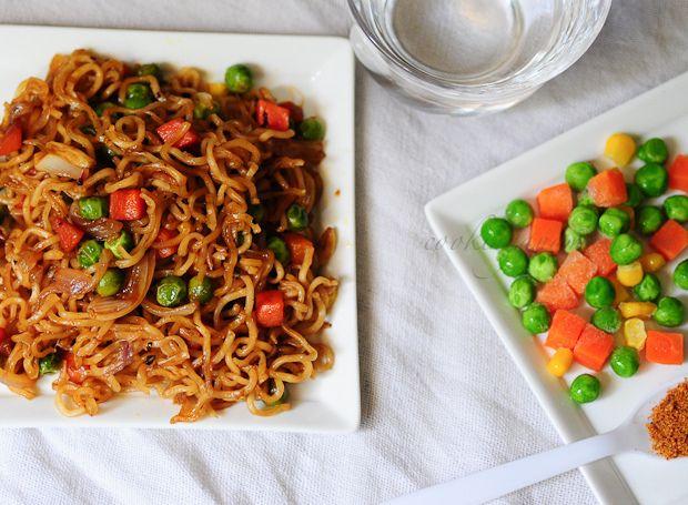 Instant Vegetable Noodles Recipe | Quick Snacks