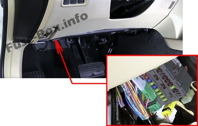 Acura TL (UA8/UA9; 2009, 2010, 2011, 2012, 2013, 2014) Fuse box location | Acura  tl, Fuse box, AcuraPinterest