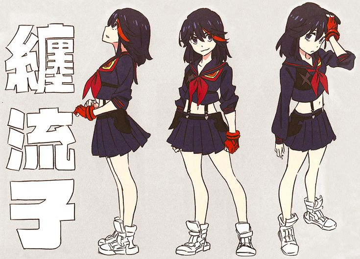 Ryuko drawings by Kill la Kill character designer... | Worshiping Satsuki's…