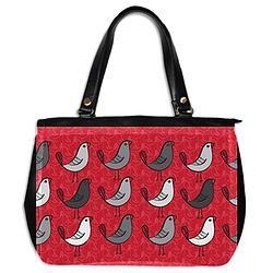Leather handbag/Tweet